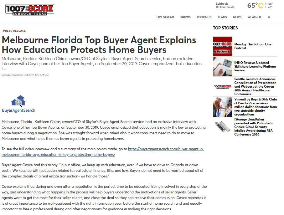 Melbourne Florida Top Buyer Agent Explains How Education Protects Home Buyers