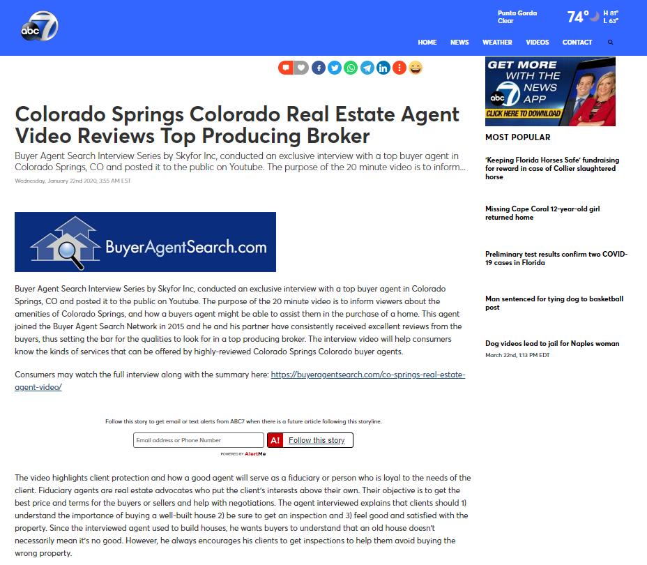 Colorado Springs Colorado Real Estate Agent Video Reviews Top Producing Broker
