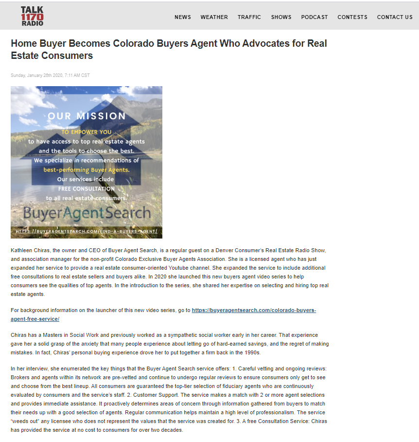 Home Buyer Becomes Colorado Buyers Agent Who Advocates for Real Estate Consumers