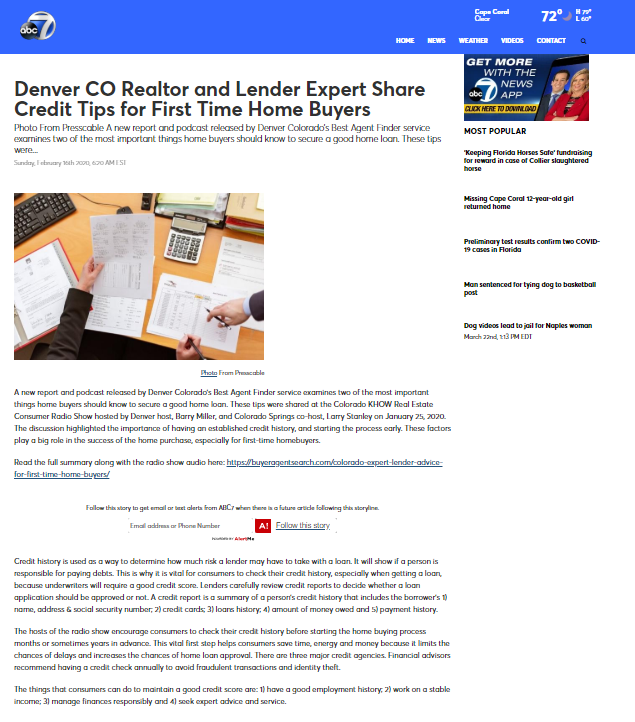 Denver CO Realtor & Lender Expert Share Credit Tips for First Time Home Buyers