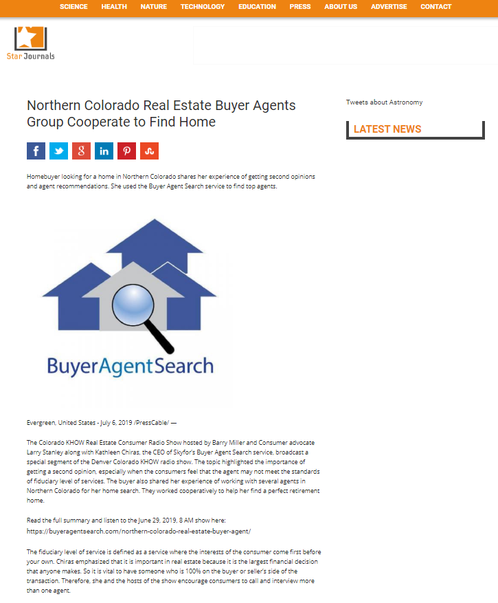 Northern Colorado Real Estate Buyer Agents Group Cooperate to Find Home