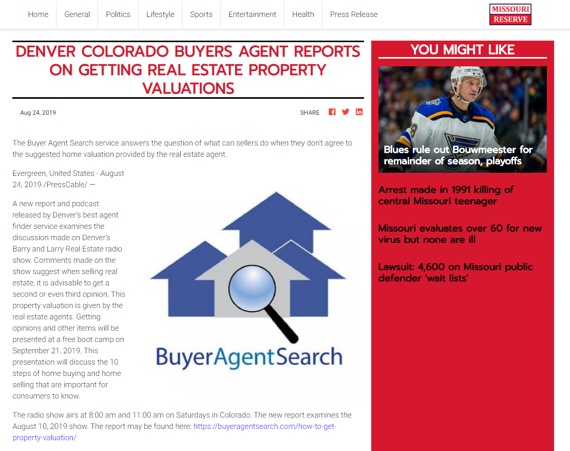 Denver Colorado Buyers Agent Reports On Getting Real Estate Property Valuations