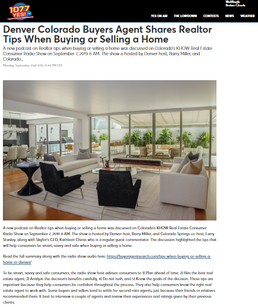 Denver Colorado Buyers Agent Shares Realtor Tips When Buying or Selling a Home