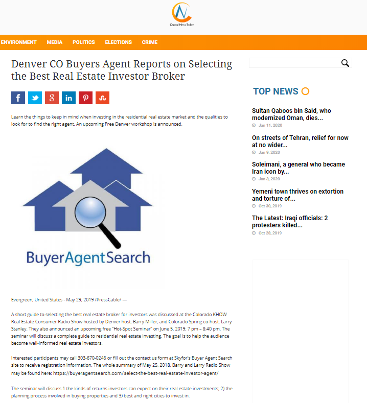 Denver CO Buyers Agent Reports on Selecting the Best Real Estate Investor Broker