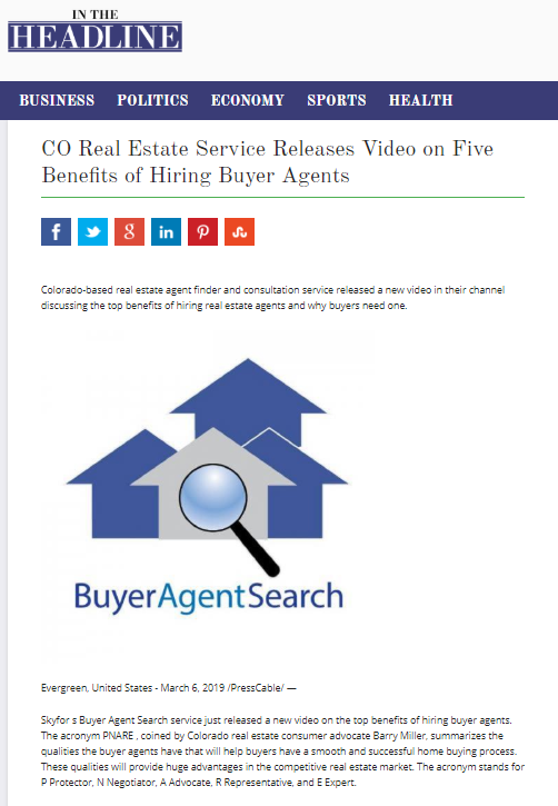 CO Real Estate Service Releases Video on Five Benefits of Hiring Buyer Agents