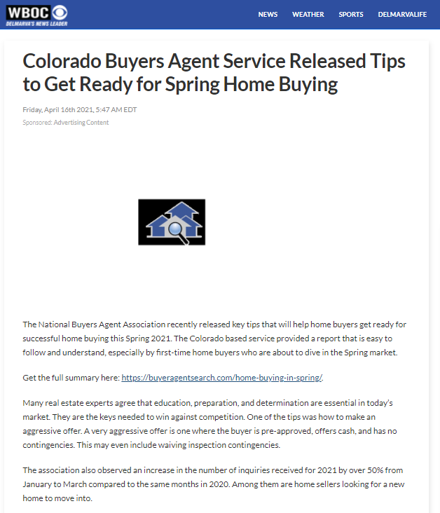 Colorado National Buyers Agent Association Lists Top 5 Home Preferences For 2021