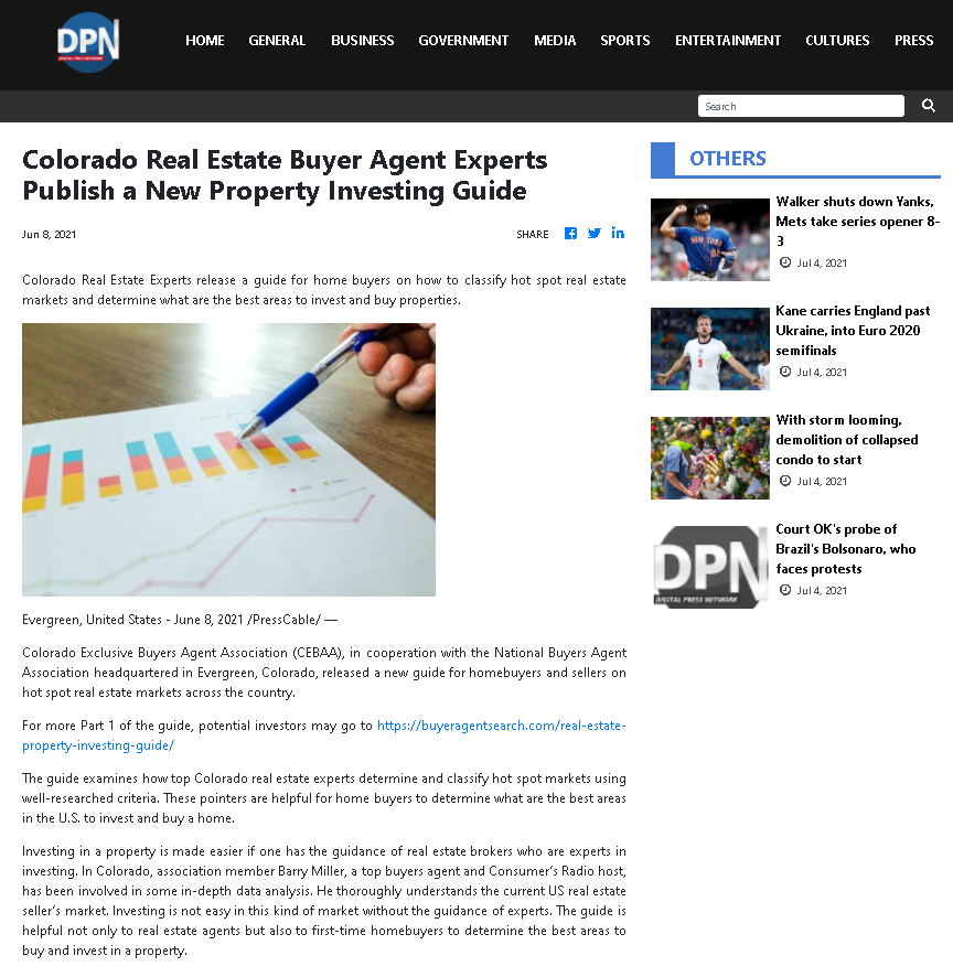 Colorado Real Estate Buyer Agent Experts Publish A New Property Investing Guide