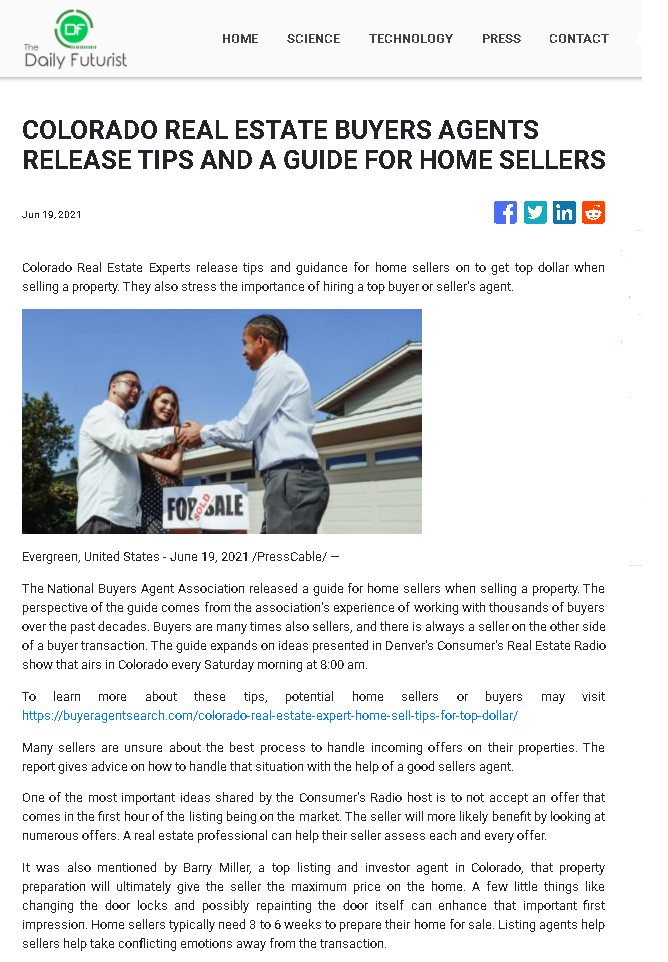 Colorado Real Estate Buyers Agents Release Tips And A Guide For Home Sellers