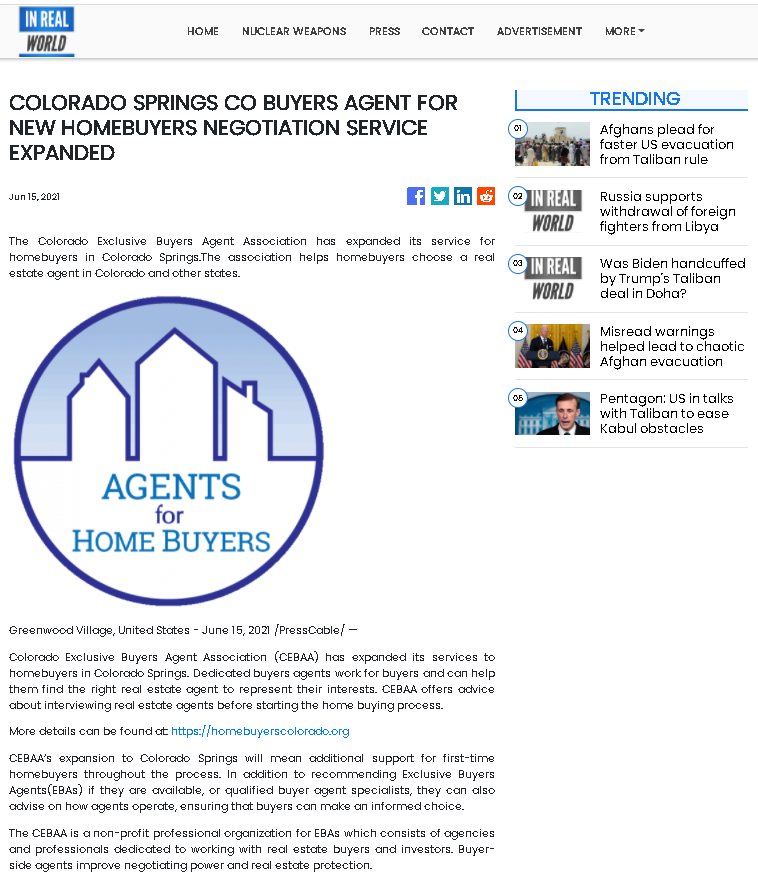 Colorado Springs CO Buyers Agent For New Homebuyers Negotiation Service Expanded