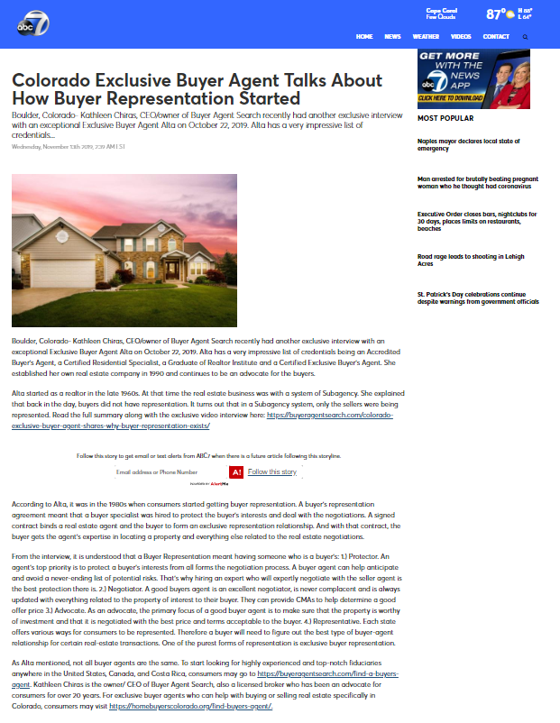 Colorado Exclusive Buyer Agent Talks About How Buyer Representation Started