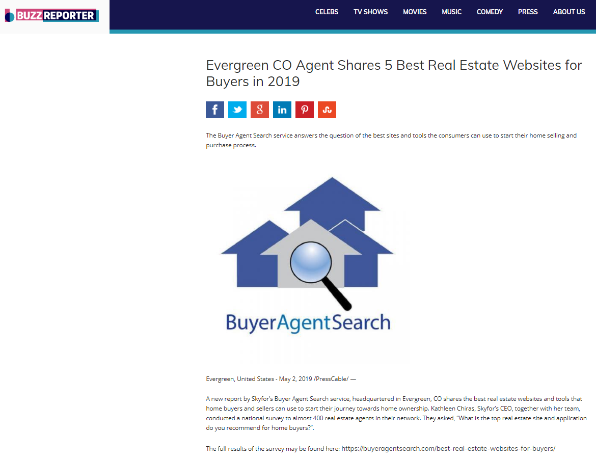 Evergreen CO Agent Shares 5 Best Real Estate Websites for Buyers in 2019