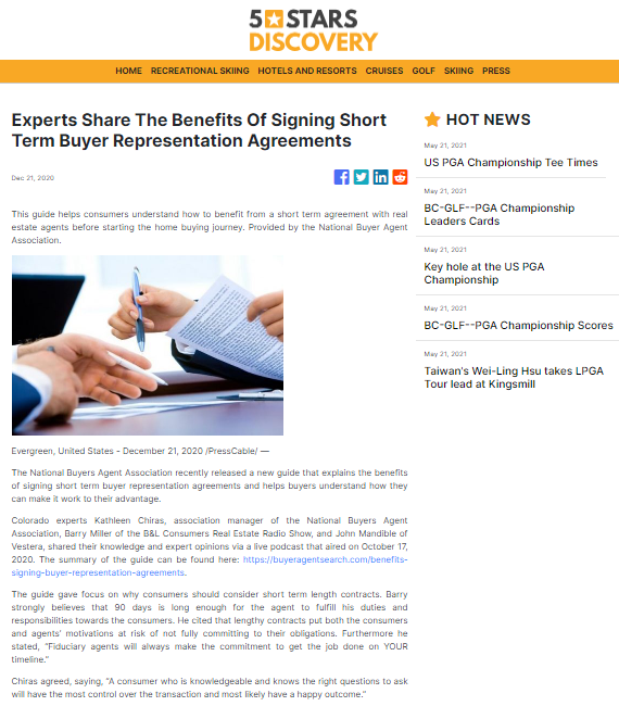 Experts Share The Benefits Of Signing Short Term Buyer Representation Agreements
