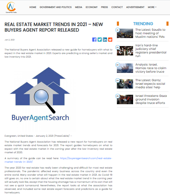 Real Estate Market Trends In 2021 - New Buyers Agent Report Released