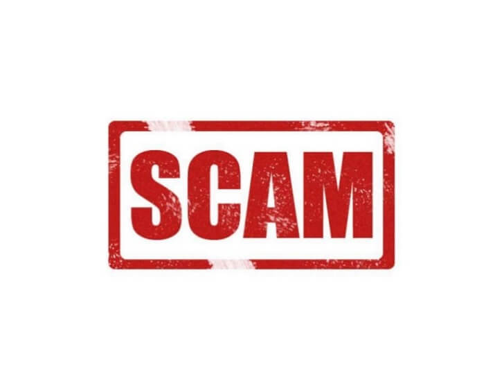 Red Scam Sign