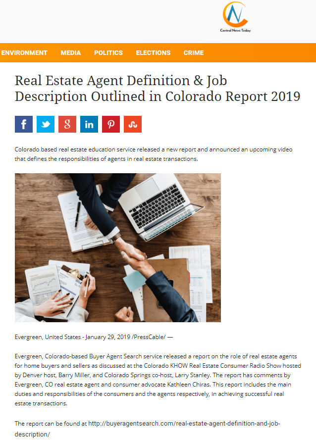 Real Estate Agent Definition & Job Description Outlined in Colorado Report 2019